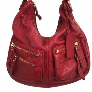 Linea Pelle Red Genuine Leather bag